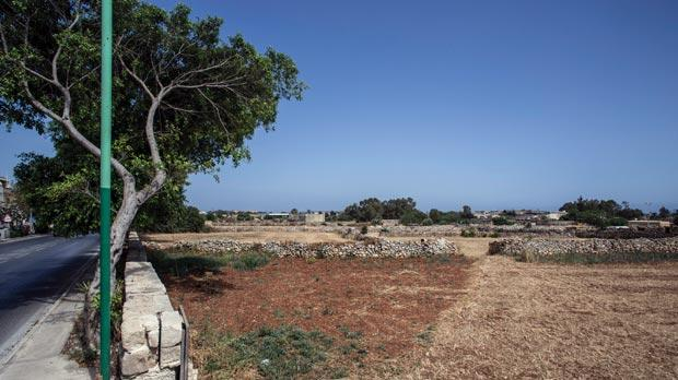 The Għaxaq site is earmarked for two schools. Photo: Joanna Demarco.