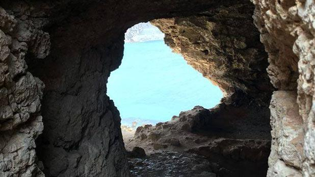 Ramla Bay as seen from the cave that formed part of the Ramla Right Balincourt Battery. Photo: David Carabott