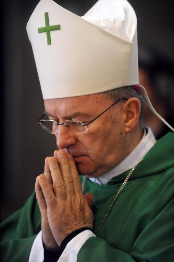 Italian bishop Luigi Ventura, the Apostolic Nuncio to France.