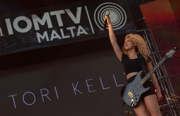 American singer and songwriter Tori Kelly performs at the Isle of MTV Concert on the Granaries in Floriana on July 7. Photo: Matthew Mirabelli