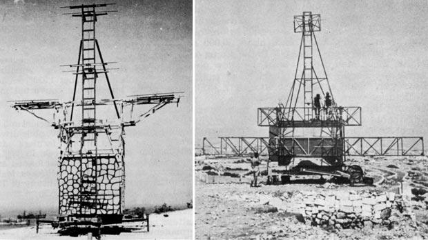 Early radar equipment was used in Malta during World War II to detect and track enemy aircraft. Pictures show a receiver (left) and transmitter for Mark I Gun Laying radar.