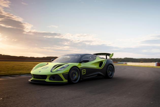 The Lotus Emira GT4 is a race-ready performance car