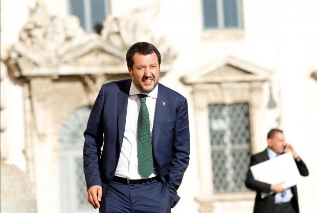 Italy's Interior Minister Matteo Salvini.