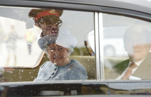 Queen Elizabeth and her husband Prince Philip arrive in Malta on November 26 for an official state visit. Photo: Matthew Mirabelli