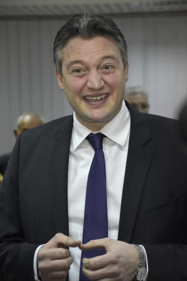 Konrad Mizzi smiles whilst giving a press conference moments after he was elected Deputy Leader of the Labour Party at the party headquarters in Hamrun on 25 February. Photo: Mark Zammit Cordina