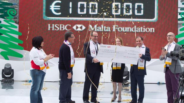 The HSBC Foundation donation.