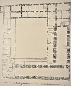 Plan of the first floor of the Grand Prisons.