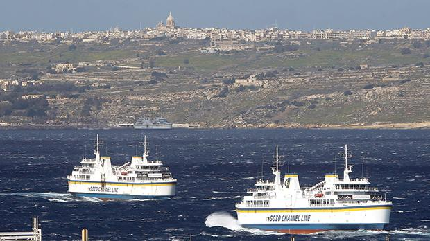 Land reclamation will enlarge Gozo extensively. The cruise liner terminal can be built there. Photo: Darrin Zammit Lupi