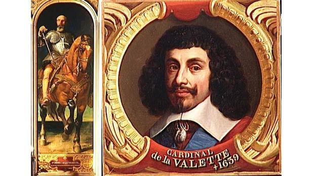 Grand Master Jean de la Valette. Right: Louis de Nogaret de la Valette.
