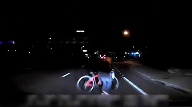 A still frame taken from video released March 21, 2018 shows the exterior view of the self-driving Uber vehicle leading up to the fatal collision in Tempe, Arizona, U.S. on March 18, 2018.