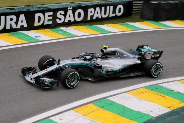 Mercedes' Valtteri Bottas during practice.