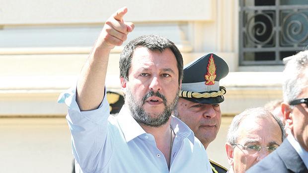 Italian Minister of the Interior Matteo Salvini.
