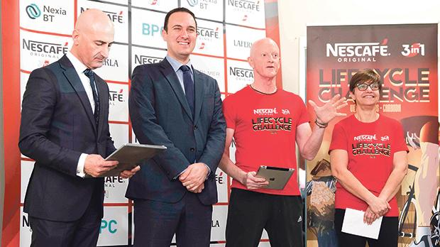 (From left) Nestlé marketing and corporate communications manager Alfred J. Borg, Parliamentary Secretary Clifton Grima, founder and chairperson of LifeCycle Foundation Alan Curry and Shirley Cefai respectively.