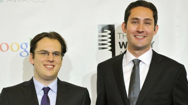Instagram founders Krieger and Systrom attend the 16th annual Webby Awards in New York, Reuters file photo