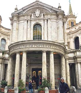 The author in front of Santa Maria della Pace