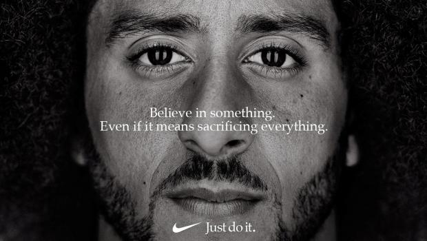 "Former San Francisco quarterback Colin Kaepernick appears as a face of Nike Inc advertisement marking the 30th anniversary of its ""Just Do It"" slogan in this image released by Nike."