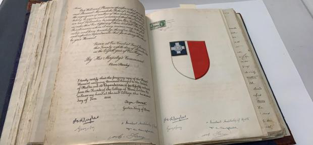 The grant of the George Cross to Malta