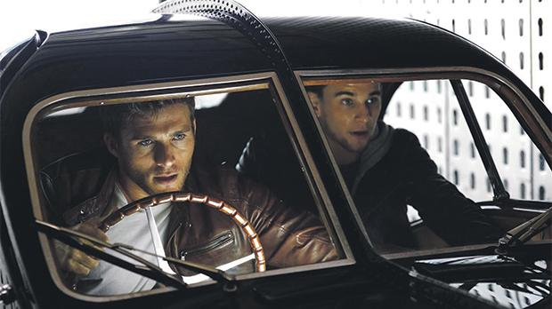 Scott Eastwood (left) and Freddie Thorp try to pull of a daring heist in Overdrive.