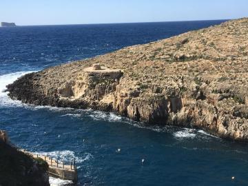 The area where Mr Bonnici drowned