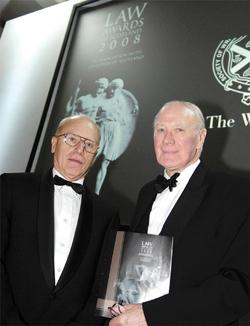 Hans Koechler (left) is seen here with Sir Menzies Campbell. Dr Koechler delivered the address at the Law Awards ceremony in Scotland in September 2008 on 'The Lockerbie Trial and the Rule of Law'.