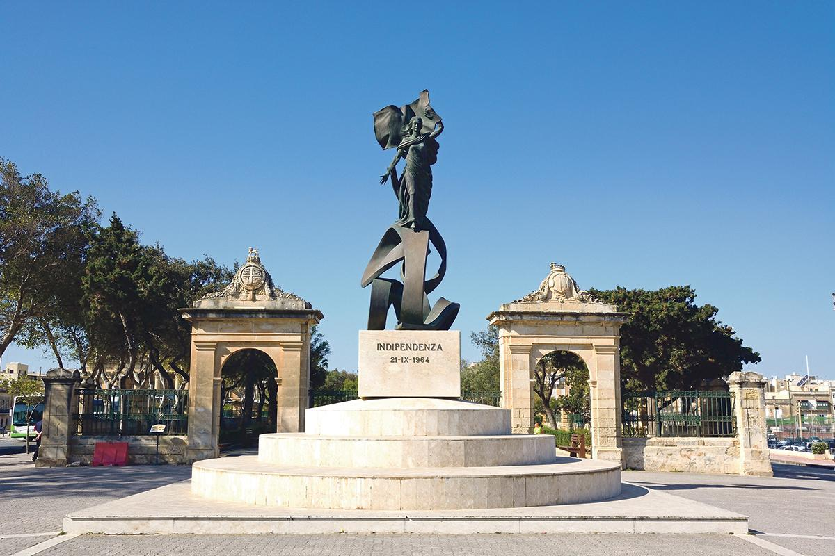 The Independence monument in Floriana was inaugurated on September 23, 1989. Photo: Shutterstock.com