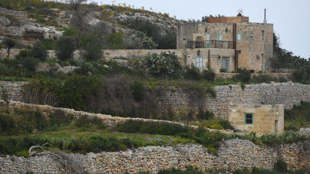 Mr Azzopardi's rented farmhouse, on the limits of San Martin. Photo: Matthew Mirabelli