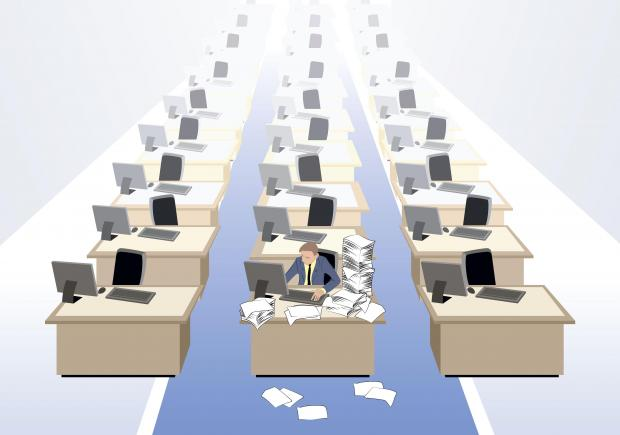 The office needed 31 staff members but was having to make do with seven. Photo: Shutterstock