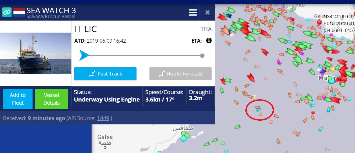 The Dutch-flagged vessel is currently cruising at 3.6 knots.
