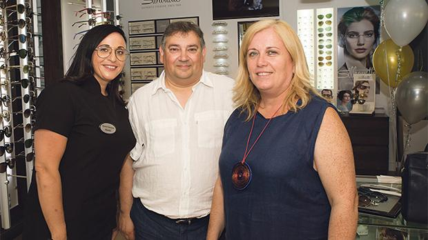 Mariella Magri with Mr and Mrs Vella.