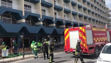 Fire at Qawra Palace Hotel, 22 treated for smoke inhalation | Video: Mark Zammit Cordina