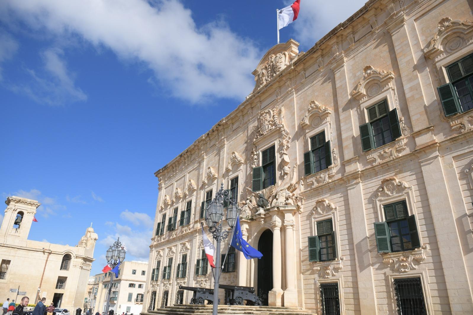 The Auberge de Castille, where Mr Gafa' worked until last month. Photo: Matthew Mirabelli