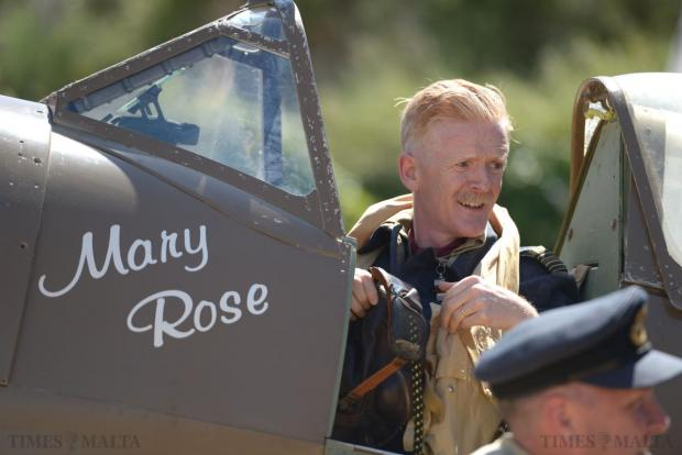 "A re-enactor sits in a Spitfire at the Malta Aviation Museum Foundation on May 10, commemorating the ""Glorious 10th of May 1942"", the day newly-delivered Spitfires landed the first major blow to the Luftwaffe in the aerial battle over Malta and turned the tide of World War II in the island's favour. Photo: Matthew Mirabelli"