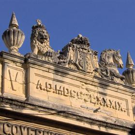 Britain's coat of arms still adorns Tarxien primary school's facade. Photo courtesy of Prof Joseph Falzon