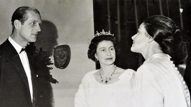 Cynthia Turner during her audience with the royal couple following the Manoel Theatre concert in 1967. Photo: Courtesy Cynthia Turner