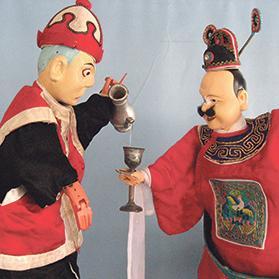 Chinese hand-puppet art.
