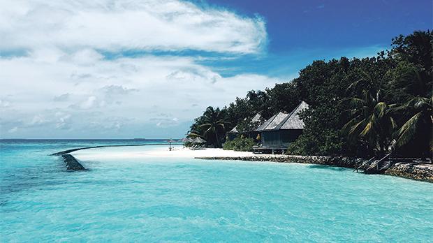 Gangehi Island in the Maldives.