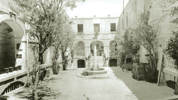 An old photo of the interior of the Ospizio (Stephen Spiteri)