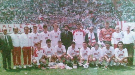 Valletta FC, winners of the Premier League title in season 1991-92.