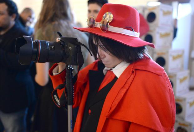 A girl takes a photograph during the 2017 Comic Con at The Mediterranean Conference Centre in Valletta on December 3. Photo: Matthew Mirabelli