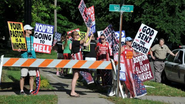 'Pro-life' protests can turn quite ugly. Photo: Shutterstock