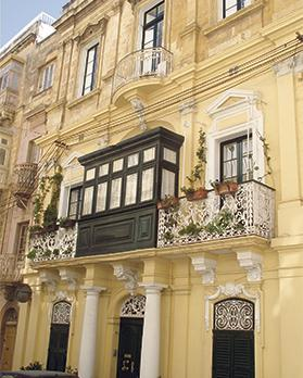 The highly imposing small palazzo in Victory Street, Senglea, once the residence of Senglean-born Mgr Ignazio Panzavecchia who was elected as Malta's first Prime Minister after the adoption of the self-government constitution in 1921 but who decided not to take up the position due to his ecclesiastical status. Joseph Howard was appointed Prime Minister following Panzavecchia's refusal.