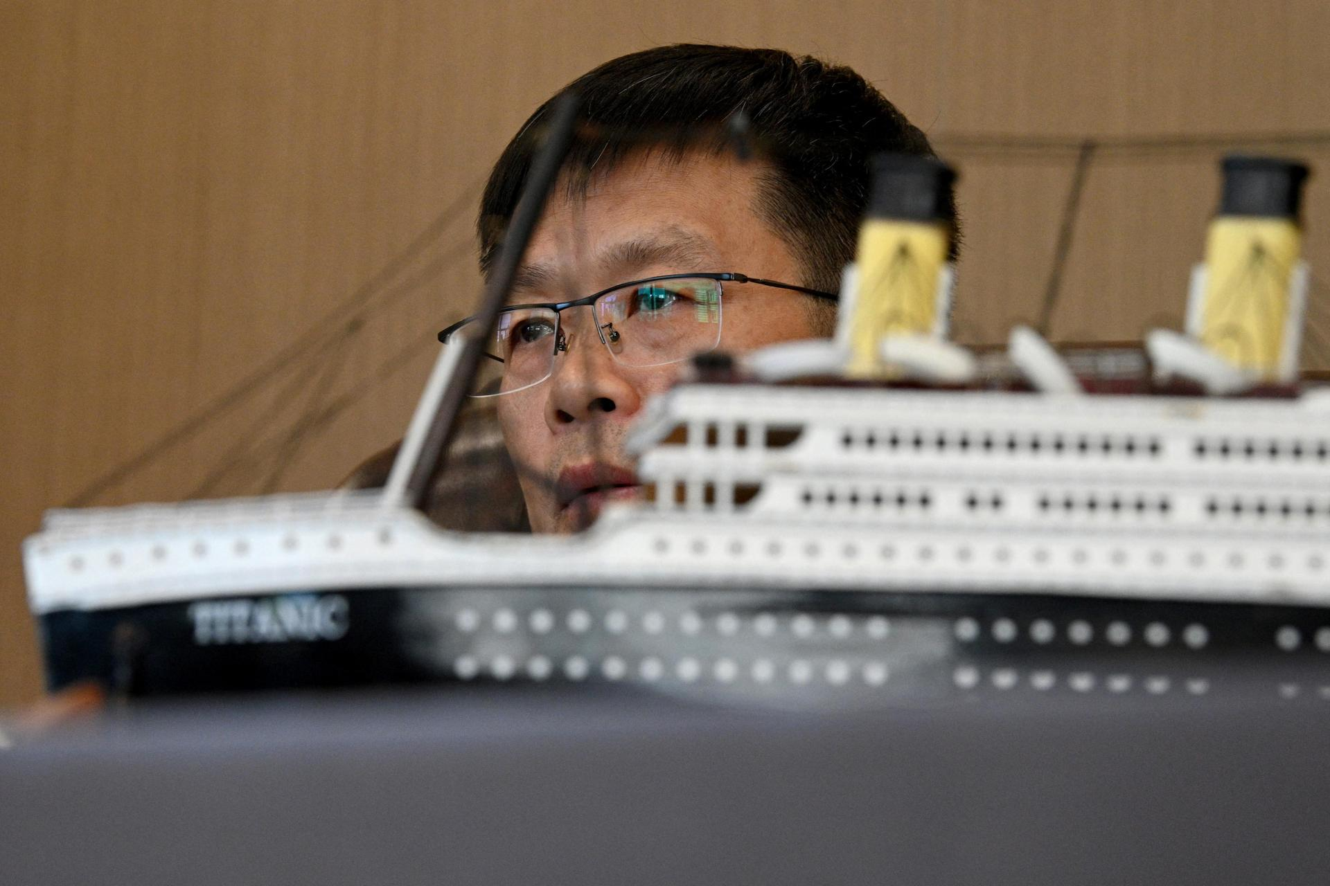 Su Shaojun, an investor helping to build a life-size replica of the Titanic.