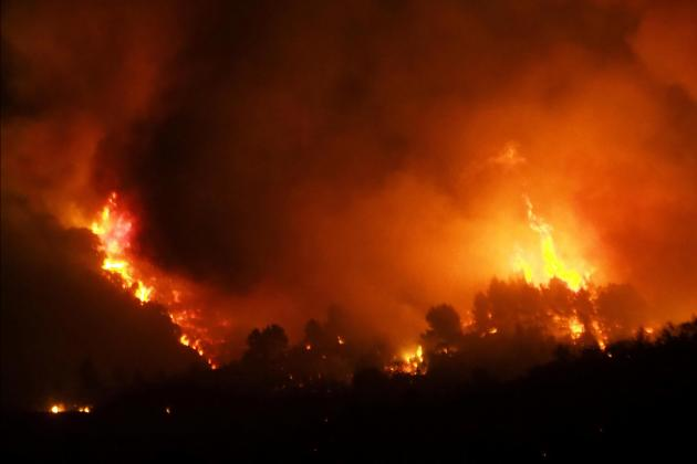 Strong winds fan fierce wildfire in southern France