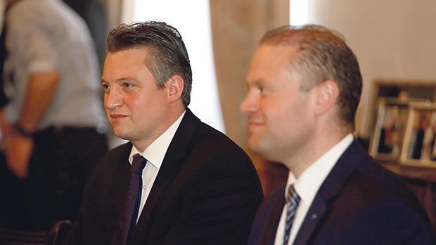 Konrad Mizzi and Joseph Muscat are said to have had an 'argument' over the matter