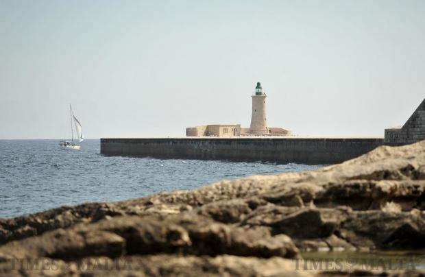 A sail boat navigates its way around the Grand Harbour breakwater on October 5. Photo: Chris Sant Fournier