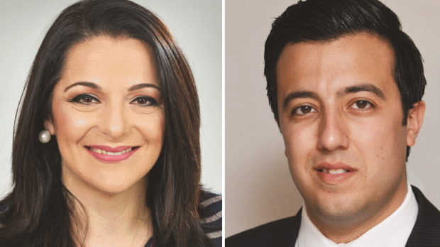 Julia Farrugia Portelli (left) and Clint Camilleri (right) are two further new faces for Labour.