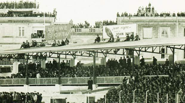 </p> <p>Part of the crowd that gathered for the Malta-England match at the old Gżira stadium in February, 1971.