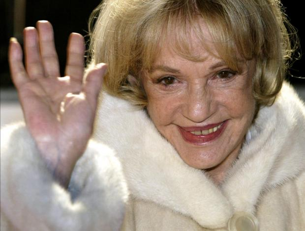 Actress Jeanne Moreau arrives at the European film awards ceremony in Berlin. File