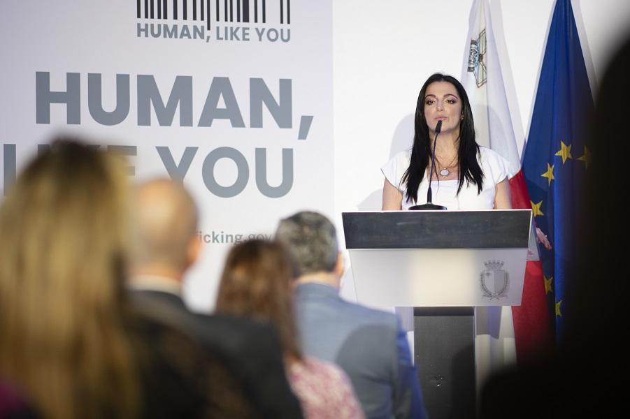 Julia Farrugia Portelli launches the campaign. Photo: DOI/OPM