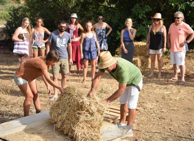 Farmers teach visitors 'regenerative agriculture' at the compost festival on July 16. Photo: Mark Zammit Cordina